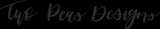 Two Peas Designs Wordmark