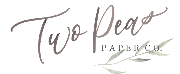 Two Peas Paper Co Logo for Light BG